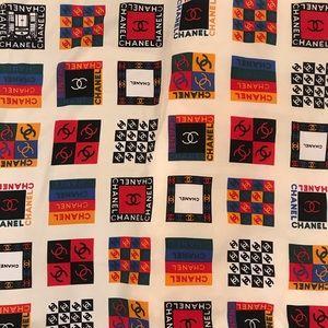 CHANEL Accessories - Vintage CHANEL silk scarf